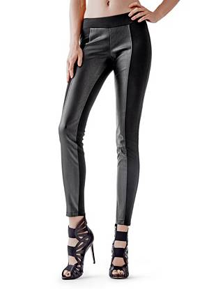 Faux Leather Leggings - Ponte Faux-Leather Leggings