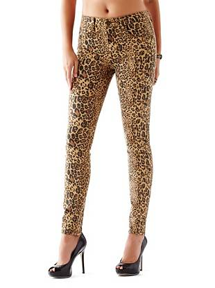 1981 High-Rise Skinny Jeans with Drew Leopard Print