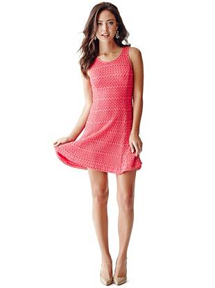 Renee Sleeveless Crochet Dress