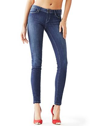 Indigo Wash Jeans - Low-Rise FleX Jeans in Lux Blue Wash