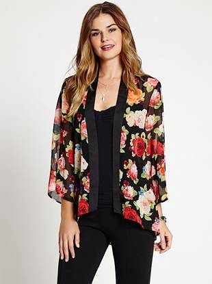 The kimono trend is here to stay, and this floral-print piece is the perfect way to nail the look. An inspired oversize design and breezy, lightweight construction work together to create a style that's effortless and completely necessary.