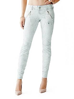 Letitia Mid-Rise Skinny Jeans in Whisper White Wash