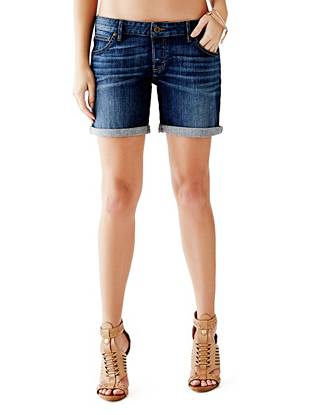 Boy-Fit Denim Shorts in Industry-Clean Wash