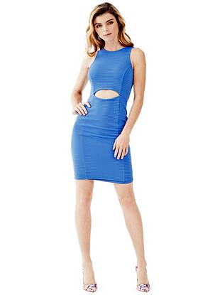 Sleeveless Pointelle Cutout Dress
