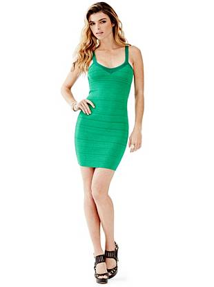 Sleeveless V-Neck Bandage Dress