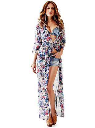 Bell-Sleeve Summer Duster