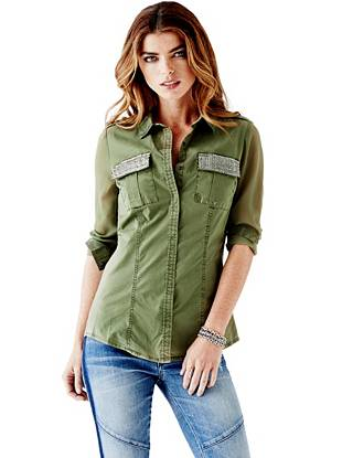 Linda Long-Sleeve Cargo Shirt