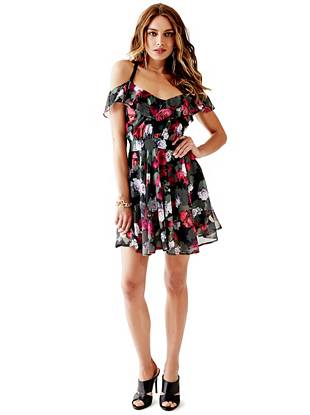 Chiffon Designer Dresses - Bonnie Floral-Print Dress
