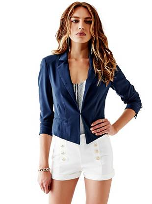 Long-Sleeve Nautical Blazer