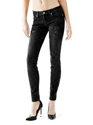 Denim Low Rise Jeans - Low-Rise Power Skinny Jeans in Silverton Wash