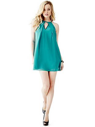 Chiffon Designer Dresses - Sleeveless Trapeze Dress