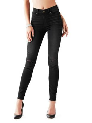 1981 High-Rise Skinny Jeans in Renegade Destroy Wash