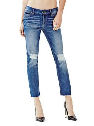 Mid-Rise Crop Pencil Skinny Jeans in Goldfield Wash