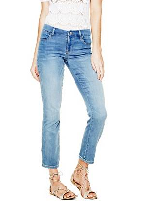 Indigo Wash Jeans - Mid-Rise Pencil Skinny Jeans in Vista Wash