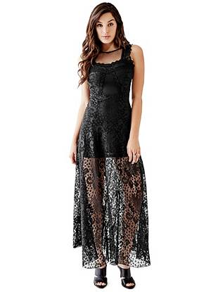Maxi Winter Dresses - Leigh Lace Maxi Dress