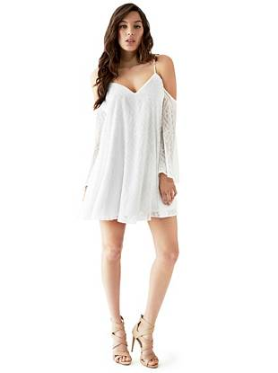Chiffon Sundresses - Andra Cold-Shoulder Dress