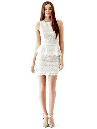 Lace Spring Dresses - Jazlyn Lace Peplum Dress