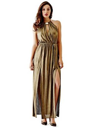 Maxi Winter Dresses - Cora Metallic Maxi Dress