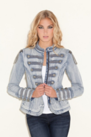 Denim Marching Jacket