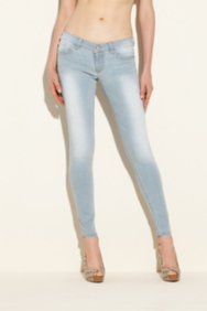 Power Skinny Jeans in Heron Blue Wash