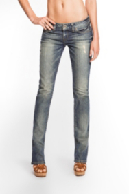 Starlet Straight Leg Jeans - Noisy Wash
