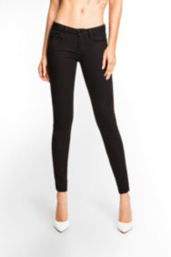 Brittney Black Denim Leggings with Rinse