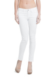 Brittney Ankle Skinny Jeans in True White