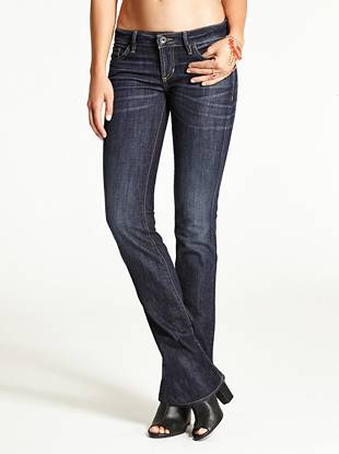WHY YOU NEED IT: Our sexy new bootcut features a slimmer leg and is constructed with American denim. It has the look and feel of a classic jean but it stretches for a sexy fit that keeps you comfortable.