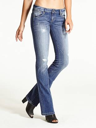 WHY YOU NEED IT: Our sexy new bootcut features a slimmer leg and is constructed with American denim. It has the look and feel of a classic jean but stretches for a sexy fit that keeps you comfortable.