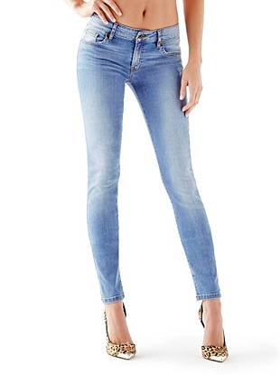 Mid-Rise Power Curvy Jeans in Voila Wash