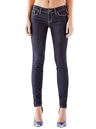 Power Skinny Low-Rise Denim Leggings with Rinse, Tall
