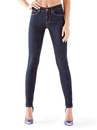 Indigo Wash Jeans - 1981 High-Rise Skinny Jeans with Silicone Rinse