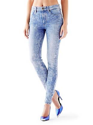 Indigo Wash Jeans - 1981 High-Rise Skinny Jeans in Brit Pop Wash