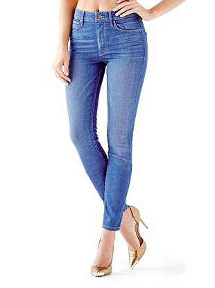 Indigo Wash Jeans - 1981 High-Rise Skinny Jeans in Speakeasy Wash