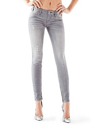WHY YOU NEED IT: Moto-inspired details give these signature skinny jeans instant street-style appeal. The sexy rise sits low on your hips and the medium-weight denim has slight stretch to keep you comfortable. Finished with zipper details at the ankle and back pockets, they bring just the right amount of edge to your everyday looks. We love wearing this grey wash as an easy alternative to everyday jeans.