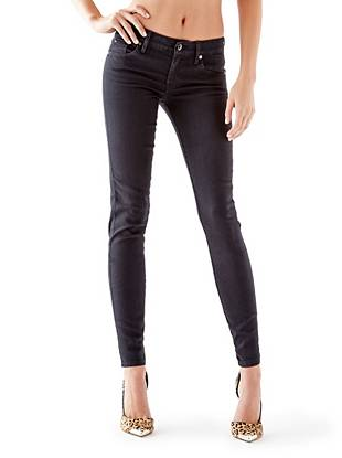 Mid-Rise Power Curvy Jeans with Black Silicone Rinse