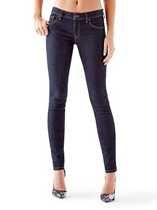 Mid-Rise Power Curvy Jeans with Silicone Rinse
