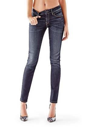 Indigo Wash Jeans - Mid-Rise Power Curvy Jeans in Dikens Wash