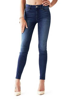 Indigo Wash Jeans - 1981 High-Rise Tailored Skinny Jeans in Insider Wash