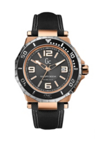 Gc-3 AquaSport Black and Rose Gold Timepiece