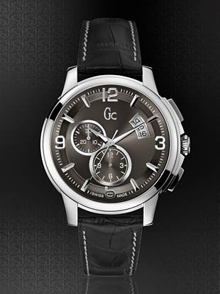 Gc Swiss Watches - Gc Classica Chrono Timepiece – Silver/Black