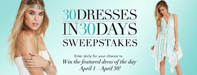 30 Dresses In 30 Days Sweepstakes