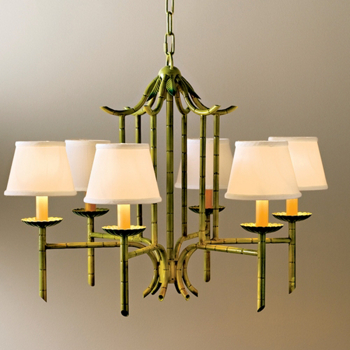 GREEN BAMBOO CHANDELIER
