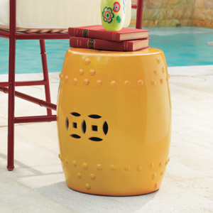 Gumps Yellow Garden Stool $295