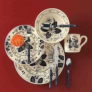Lotus Noir Dinnerware - Dinner Plates