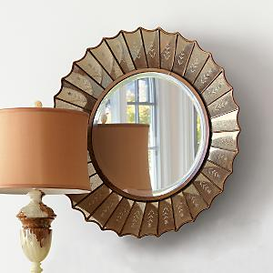 Gump's San Francisco - Antiqued Rosette Mirror