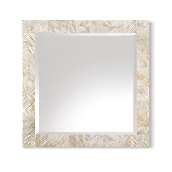 Gump's San Francisco - Mother-of-Pearl Mosaic Mirror :  mirror beach mother of pearl sea