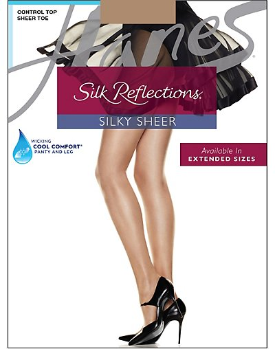 Hanes-Silk-Reflections-Sheer-Control-Top-Womens-Pantyhose-3-Pack-717