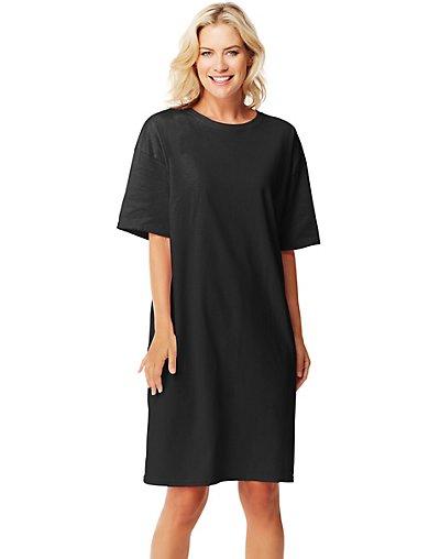 Hanes wear around women 39 s sleep shirt ebay for Women s flannel sleep shirt