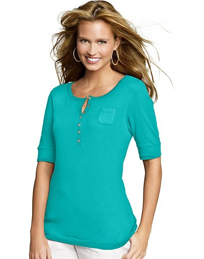 Hanes-Signature-Womens-Featherweight-Henley-Shirt-style-22483